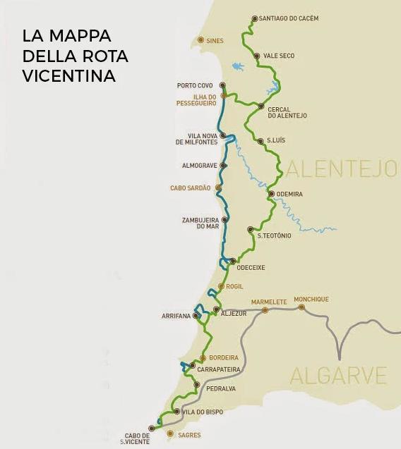 Rota-vicentina-Mappa