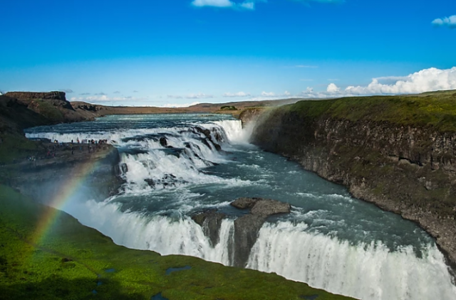 Gullfoss-cascata-del-Golden-Circle-Islanda-viaggi-a-piedi